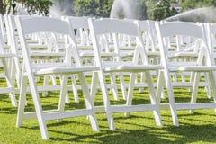 Weiße Stühle Lizenzfreie Stockbilder