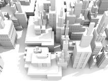 Weiße Stadt Lizenzfreie Stockbilder
