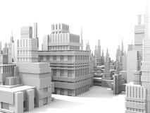 Weiße Stadt Stockbild