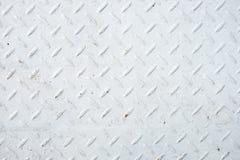 Weiße Stahlplattformoberflächenbeschaffenheit Stockfoto