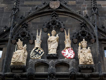 Weiße Statuen Stockbild