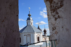 Weiße Steinkirche von Russland Stockfoto