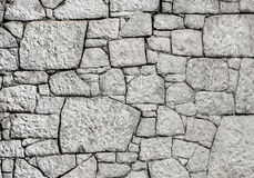 Weiße Steinwand Lizenzfreies Stockbild