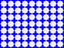 Weiße Sternchen-Vereinbarung auf blauem Hintergrund Lizenzfreie Stockbilder