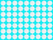 Weiße Sternchen-Vereinbarung auf blaugrünem Hintergrund Stockbilder