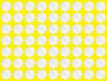 Weiße Sternchen-Vereinbarung auf gelbem Hintergrund Lizenzfreies Stockbild