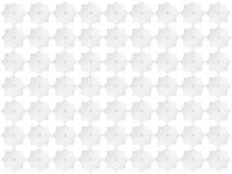 Weiße Sternchen-Vereinbarung auf lokalisiertem Hintergrund Lizenzfreies Stockfoto