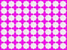 Weiße Sternchen-Vereinbarung auf rosa Hintergrund Stockfotografie