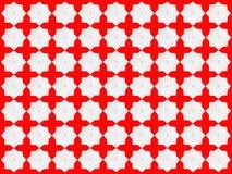 Weiße Sternchen-Vereinbarung auf rotem Hintergrund Stockfotografie