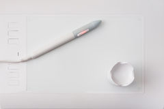 Weiße Stiftgraphiktablette Lizenzfreie Stockfotografie
