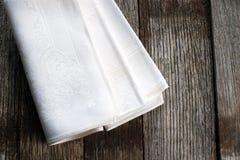 Weiße Stoffservietten Lizenzfreies Stockfoto