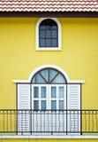 Weiße Tür Stockfoto