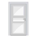 Weiße Tür lokalisierte Illustration Lizenzfreie Stockfotos