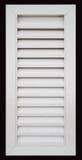 Weiße Tür mit Luftschlitzen stockbilder