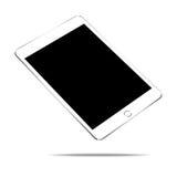 Weiße Tablette des Modells auf weißem Vektordesign Lizenzfreies Stockfoto