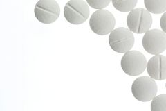 Weiße Tabletten Stockbild
