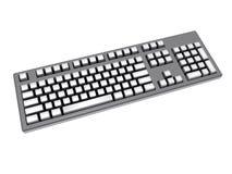 Weiße Tastatur Stockbild
