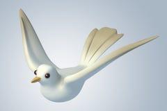 weiße Taube der Taube 3D Stockbild