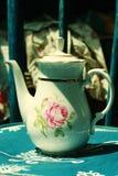 Weiße Teekanne Stockbild