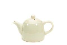 Weiße Teekanne lokalisiert Stockfoto
