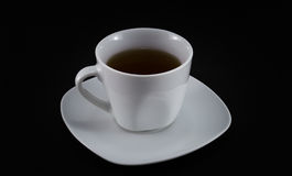 Weiße Teeschale auf schwarzem #1 stockbilder