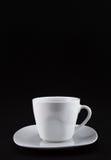 Weiße Teeschale auf schwarzem #2 stockbild