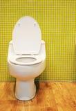 Weiße Toilette Stockbild