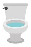 weiße Toilettenikone Stockbilder