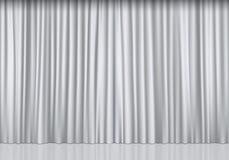 Weiße Trennvorhänge Stock Abbildung