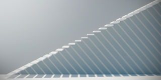 Weiße Treppe Stockbild