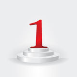 Weiße Treppe bis zum Nummer Eins-Geschäftskonzept lizenzfreie abbildung