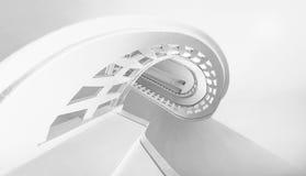 Weiße Treppen Stockbild