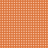 Weiße Tupfen auf orange Hintergrundvektor Stockfotos