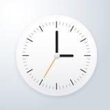 Weiße Uhr Stockfotografie