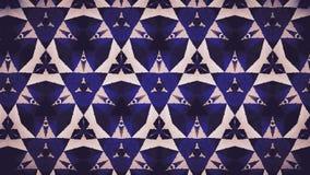 Weiße und blaue Farbtapete der abstrakten Dreieckcreme Stockfotografie