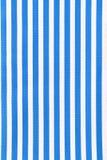 Weiße und blaue gestreifte Gewebebeschaffenheit Lizenzfreies Stockbild