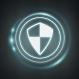 Weiße und glühende blaue Wiedergabe des E-Mail-Schildes 3D Lizenzfreies Stockbild