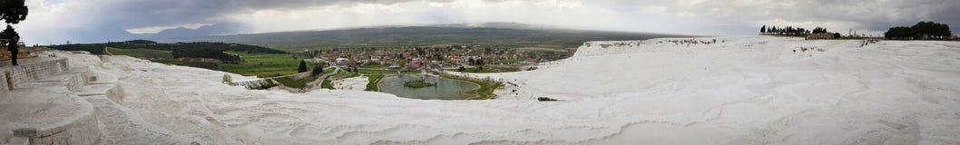 Weiße und kalkhaltige Teiche in Pamukkale Lizenzfreies Stockfoto