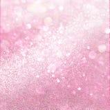 Weiße und rosa abstrakte bokeh Lichter Lizenzfreie Stockfotografie