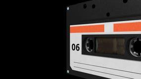 Weiße und rote Retro- Kassette nahtloser VJ-Schleife - stock video