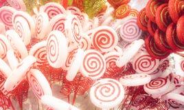 Weiße und rote Süßigkeit Lizenzfreies Stockfoto