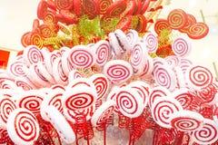 Weiße und rote Süßigkeit Stockbild