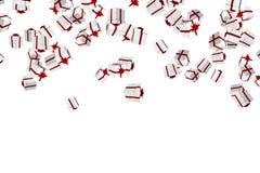 Weiße und rote Weihnachtsgeschenke Stockfoto