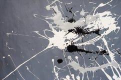 Weiße und schwarze und graue Fleck- Verunstaltung auf dem grauen Hintergrund lizenzfreies stockbild