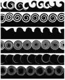 Weiße und schwarze Streifen Stockfotos
