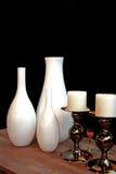 Weiße Vasen Stockfoto