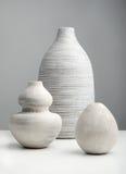 Weiße Vasen Lizenzfreies Stockfoto