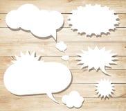 Weiße Vektorspracheblasen mit Schatten mögen Lizenzfreie Stockfotos