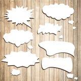 Weiße Vektorspracheblasen mit Schatten mögen Stockbilder