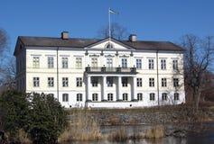 Weiße Villa Lizenzfreies Stockfoto